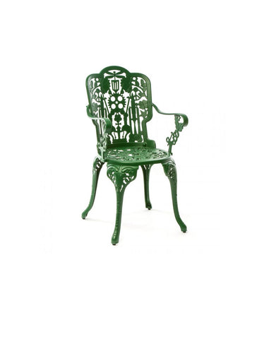 Chair Aluminium Outdoor Victorian Design Chair with Armrests Seletti - Play Offside