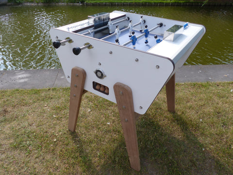 Football Table 2 Player Design Football Table Outdoor White Stella - Play Offside