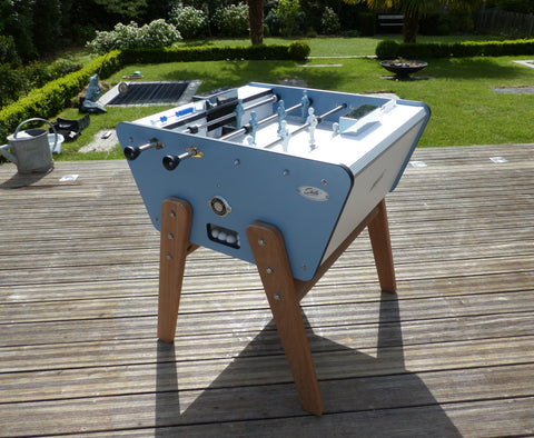 Football Table 2 Player Design Football Table Outdoor Blue Stella - Play Offside