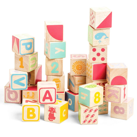 Baby Toy ABC Wooden Blocks from 12 months + Le Toy Van - Play Offside