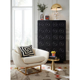 Side Table Hans Pedestal Side Table in Solid Brass Jonathan Adler - Play Offside