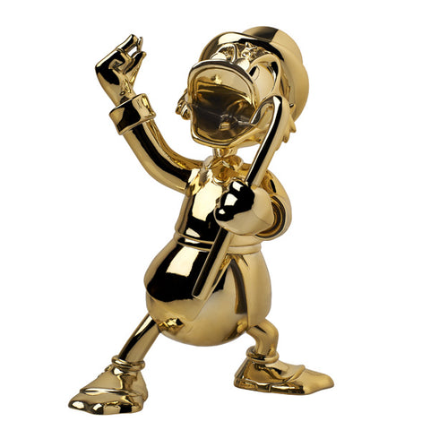 Sculpture Uncle Scrooge 27cm Figurine Chrome Gold LeblonDelienne - Play Offside
