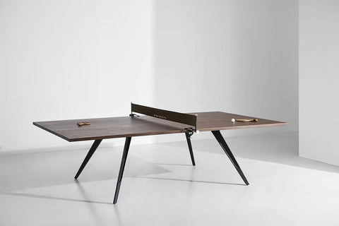 Ping-Pong Table Smoked Oak Wood Luxury Design Ping-Pong Table District 8 - Play Offside