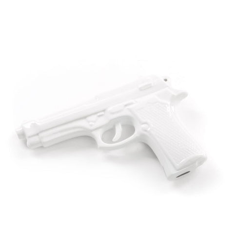 Object Gun Made from Fine Porcelaine Available in 2 Colours White Seletti - Play Offside