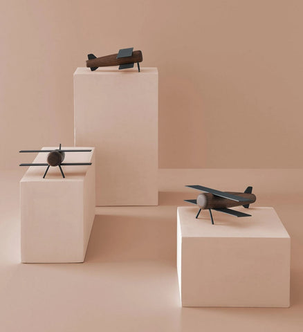 Object Miniature Wooden Plane Sculpture Madlab - Play Offside