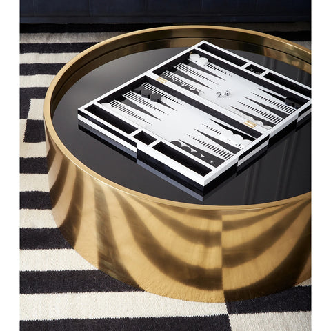 Backgammon Black & White Pop Art Lacquered Backgammon Set Jonathan Adler - Play Offside