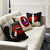 Pillow Lips Full Dose Needlepoint Throw Pillow Jonathan Adler - Play Offside