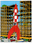 Sculpture Tintin Rocket Zephyrum - Play Offside