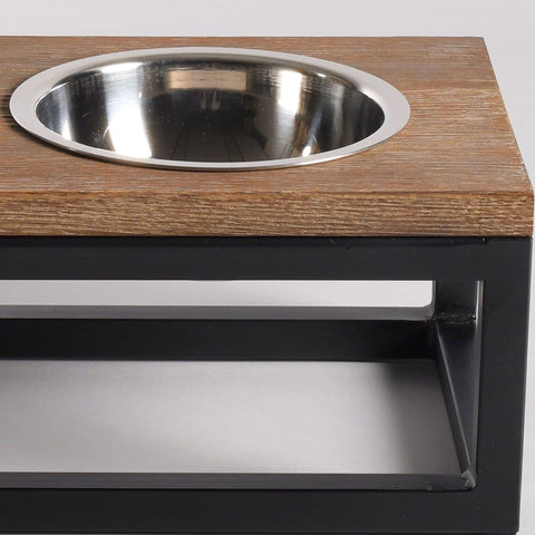 Pet Feeder Premium Oak Wood Dog Feeder Roma Available 3 Sizes Lord Lou - Play Offside