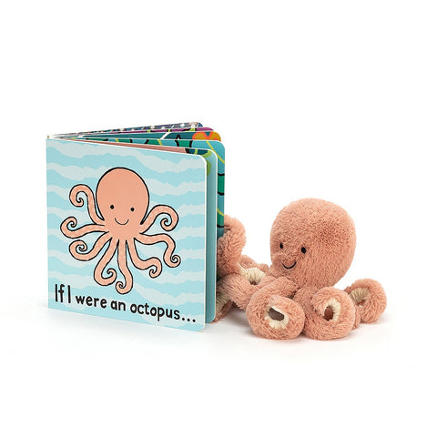 Teddybear & Book If I Were an Octopus Book & Odell Octopus Teddybear Jellycat - Play Offside