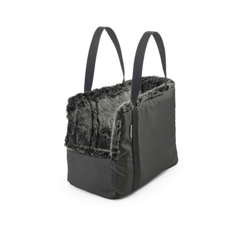 Dog Carrier Luxury Dog Carrier Via Available in 2 sizes & 3 colours Medium / Dark Grey Faux Fur Inside MiaCara - Play Offside