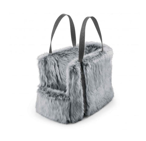 Dog Carrier Luxury Dog Carrier Via Available in 2 sizes & 3 colours Small / Light Grey Faux Fur MiaCara - Play Offside