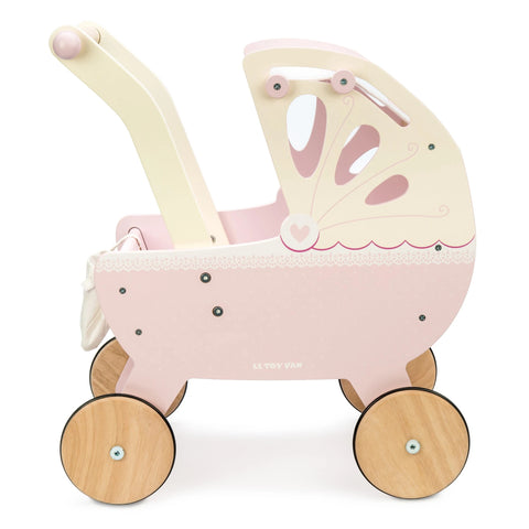 Pram Stroller Vintage Style Wooden Doll Pram Stroller Sweetdreams Suitable from 3 years old Le Toy Van - Play Offside