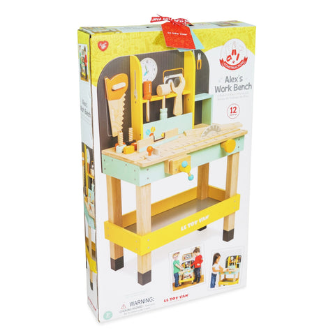Child Toy Alex's Wooden Work Bench for Children from 3 years old Le Toy Van - Play Offside