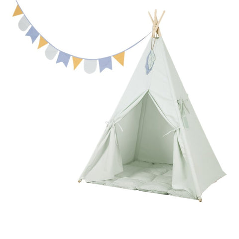 Tipi Tipi & Playmat for Child Room Available in 2 Colours Mint Green Little Dutch - Play Offside