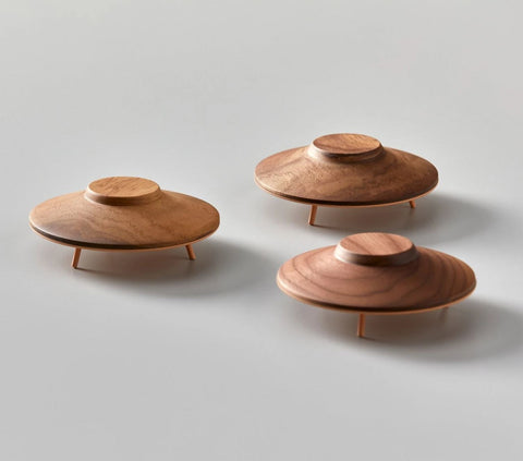 Object Miniature Wooden UFO Sculpture Madlab - Play Offside