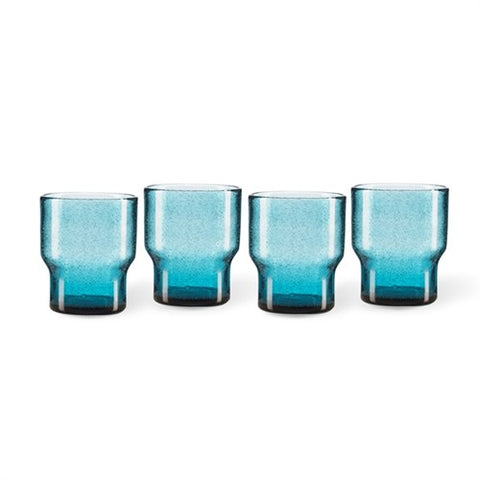 Glasses Set of 4 Dark Blue Bubbles Effect Glasses Pols Potten - Play Offside