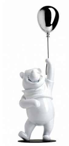 Sculpture Winnie the Pooh 55cm Figurine Glossy White & Silver LeblonDelienne - Play Offside