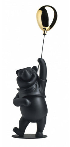 Sculpture Winnie the Pooh 55cm Figurine Matt Black & Gold LeblonDelienne - Play Offside