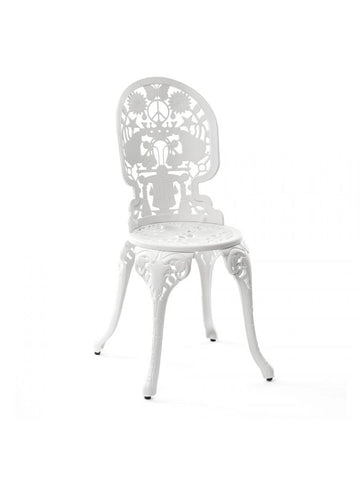 Chair Aluminium Outdoor Victorian Design Chair White Seletti - Play Offside