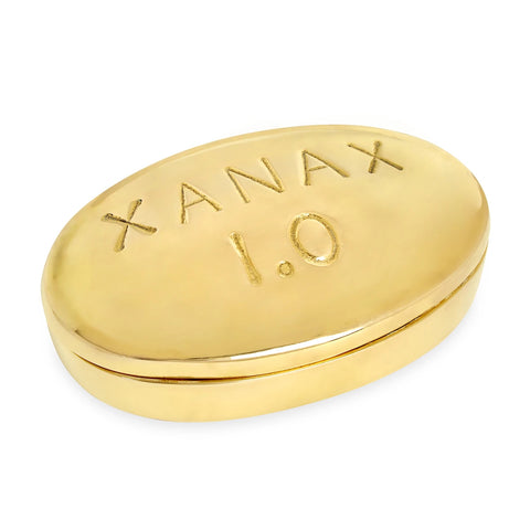Storage Box Xanax Brass Pill Box Jonathan Adler - Play Offside