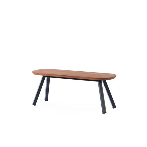 Bench You and Me Bench & Stool 120 / Black & Iroko Wood RS Barcelona - Play Offside