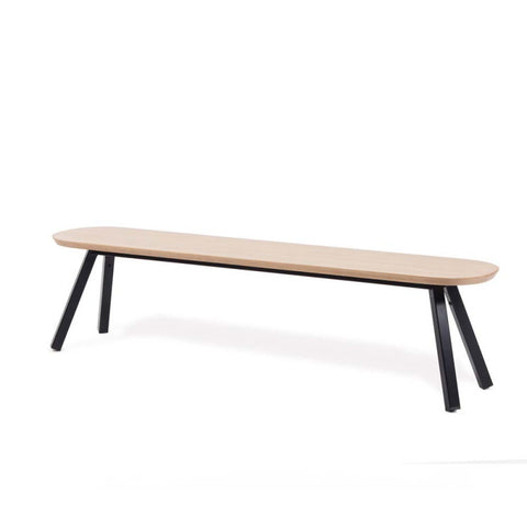 Bench You and Me Bench 180 / Black & Oak Wood RS Barcelona - Play Offside