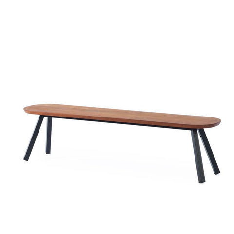 Bench You and Me Bench & Stool 180 / Black & Iroko Wood RS Barcelona - Play Offside