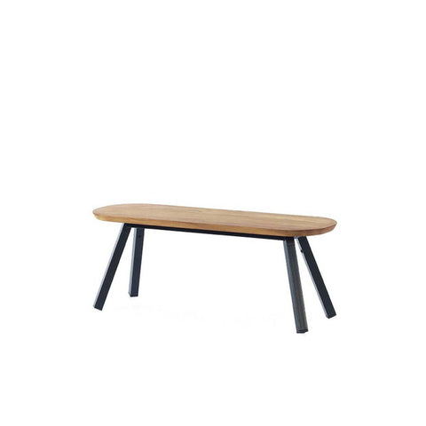 Bench You and Me Bench & Stool 120 / Black & Oak Wood RS Barcelona - Play Offside