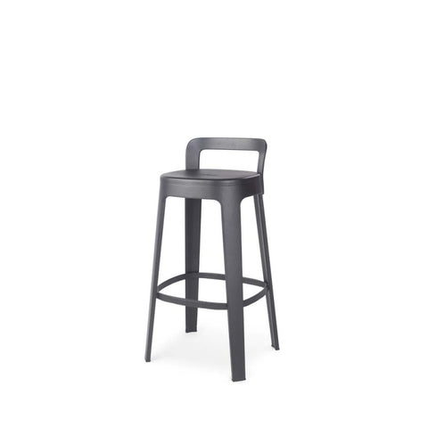 Stool Ombra Stool Bar With backrest / Black RS Barcelona - Play Offside