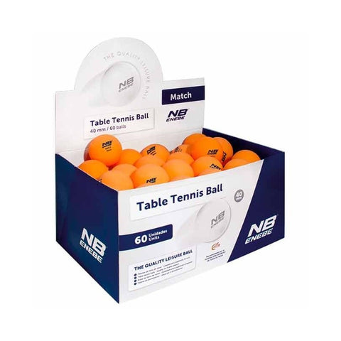 Ping-Pong Balls Box 60 Orange Ping-Pong Matchballs Enebe - Play Offside