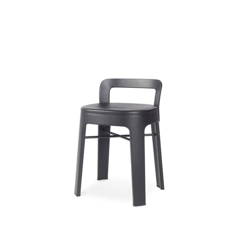 Stool Ombra Stool Small With backrest / Black RS Barcelona - Play Offside