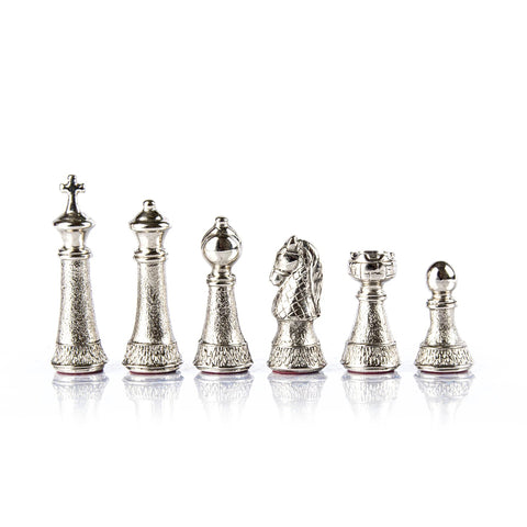 Chess Pieces Classic Metal Gold & Silver Staunton Chessmen Available in 2 sizes Medium Manopoulos - Play Offside