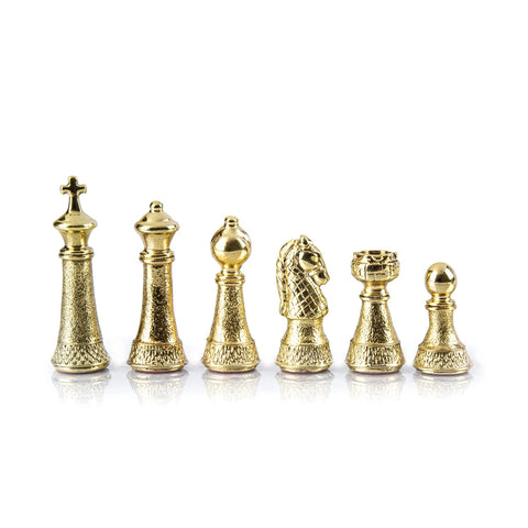 Chess Pieces Classic Metal Gold & Silver Staunton Chessmen Available in 2 sizes Manopoulos - Play Offside