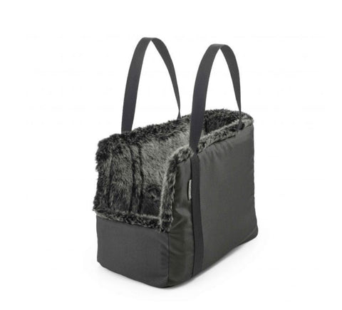 Dog Carrier Luxury Dog Carrier Via Available in 2 sizes & 3 colours Small / Dark Grey Faux Fur Inside MiaCara - Play Offside
