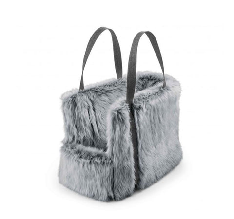 Dog Carrier Luxury Dog Carrier Via Available in 2 sizes & 3 colours Medium / Light Grey Faux Fur MiaCara - Play Offside