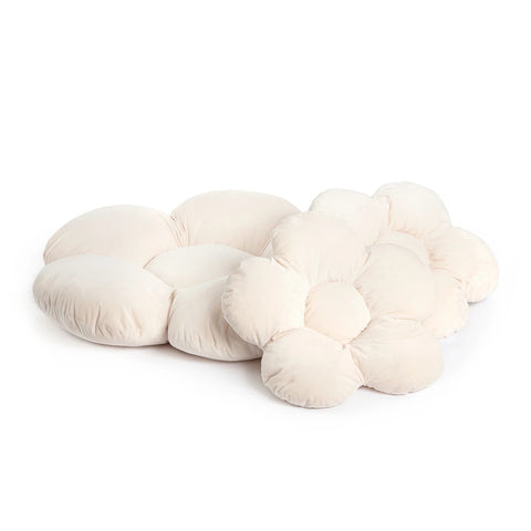Pillow Flower Pillow Set of 3 Available in 2 Colours Beige Kidkii - Play Offside