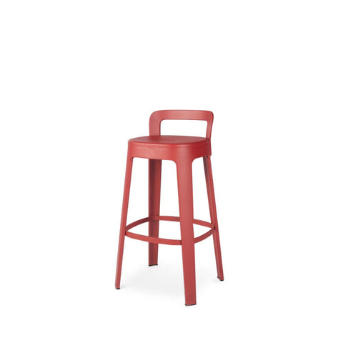 Stool Ombra Stool Bar With backrest / Red RS Barcelona - Play Offside