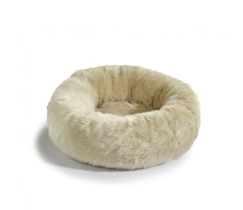 Cat Bed Luxury Faux Fur Cat Bed Lana Available in 3 colours Beige MiaCara - Play Offside