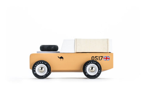 Car Toy Drifter Sahara Tan Canvas Land Rover Defender Toy Car Candylab - Play Offside