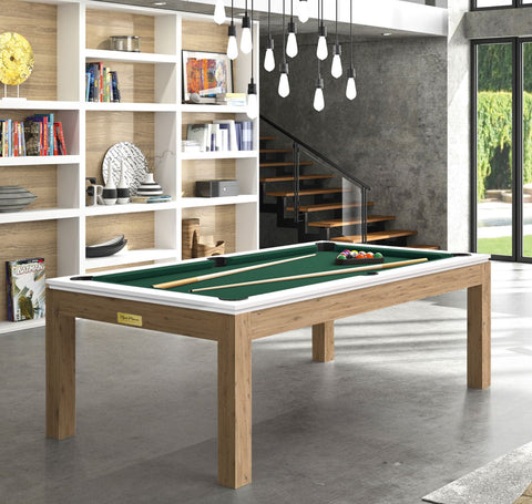 Pool Table Billiard Horizon Pool Table Oak Legs White Top / English Green Rene Pierre - Play Offside