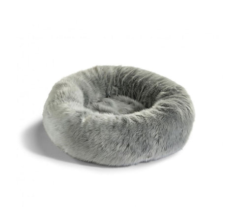 Cat Bed Luxury Faux Fur Cat Bed Lana Available in 3 colours Grey MiaCara - Play Offside