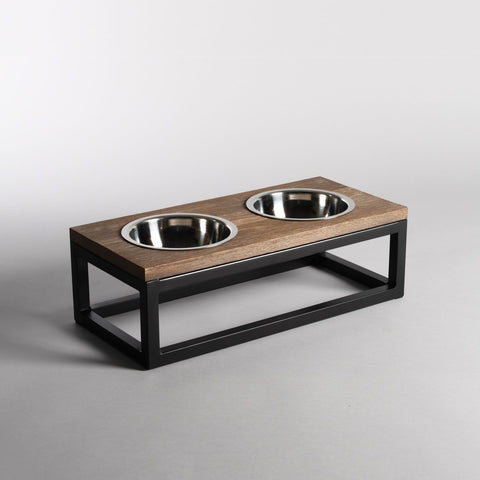 Pet Feeder Premium Oak Wood Dog Feeder Roma Available 3 Sizes S Lord Lou - Play Offside