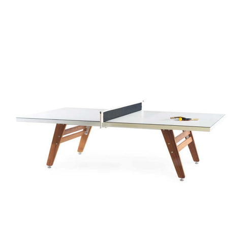 Ping-Pong Table Ping Pong Table Stationary White RS Barcelona - Play Offside