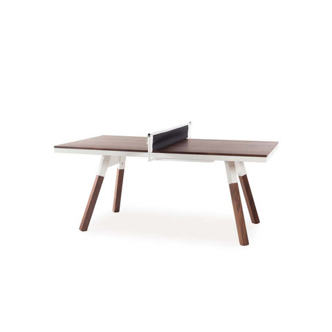 Ping-Pong Table 180 You & Me Ping-Pong Table / Dinning Table Walnut Wood & White RS Barcelona - Play Offside