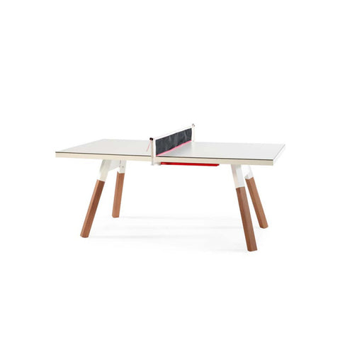 Ping-Pong Table 180 You & Me Ping-Pong Table / Dinning Table White RS Barcelona - Play Offside