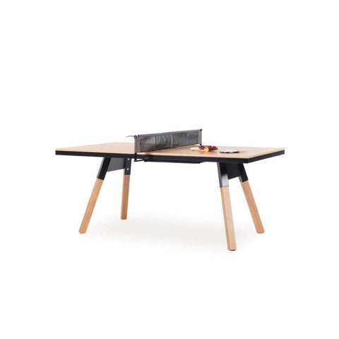 Ping-Pong Table 180 You & Me Ping-Pong Table / Dinning Table Oak Wood & Black RS Barcelona - Play Offside