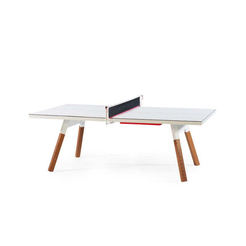 Ping-Pong Table 220 You & Me Ping-Pong Table / Dinning Table White RS Barcelona - Play Offside