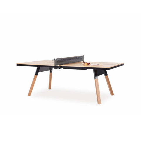 Ping-Pong Table 220 You & Me Ping-Pong Table / Dinning Table Oak Wood & Black RS Barcelona - Play Offside