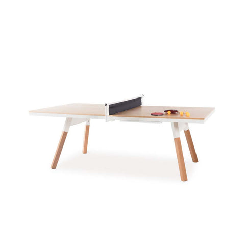 Ping-Pong Table 220 You & Me Ping-Pong Table / Dinning Table Oak Wood & White RS Barcelona - Play Offside